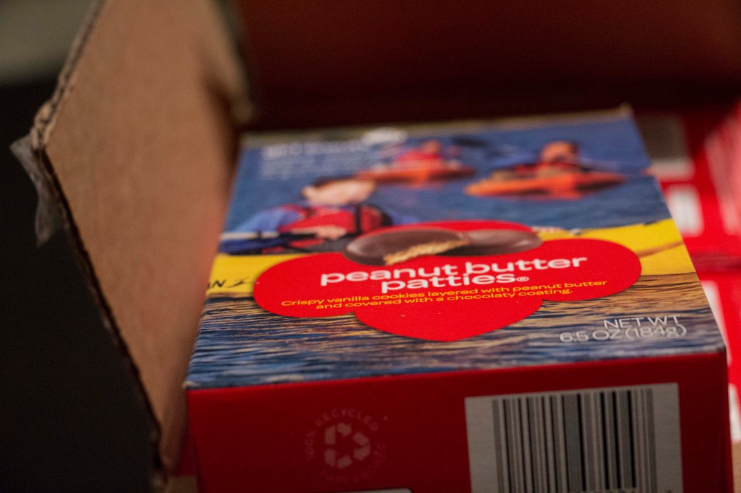 A box of Peanut Butter Patties on Feb. 21, 2017. (Photo by Tynin Fries)