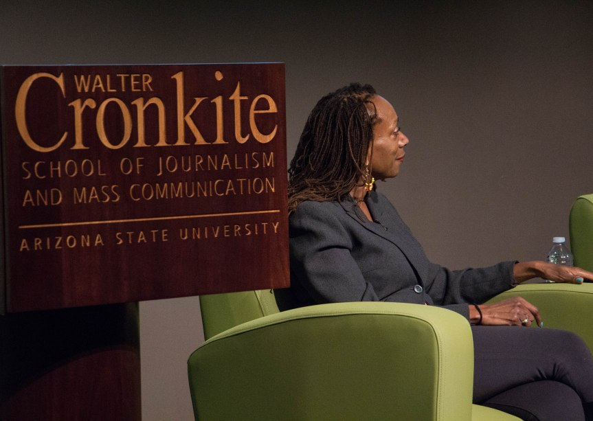 New Media Innovation and Entrepreneurship Lab Director Retha Hill hosts Must See Monday on Feb. 6, 2017 in Phoenix, Ariz. (Photo by Tynin Fries)